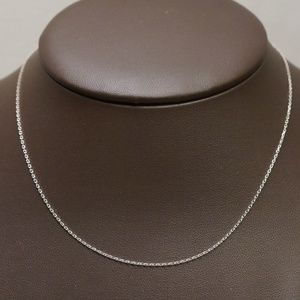 "Sterling Silver (.925) 18"" Cable Chain"